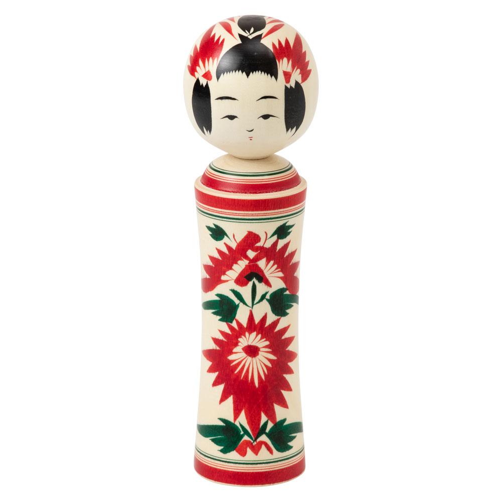 宮城伝統こけし 鳴子系 6寸 作者:大沼秀則 宮城県の工芸品 Kokeshi, Miyagi craft