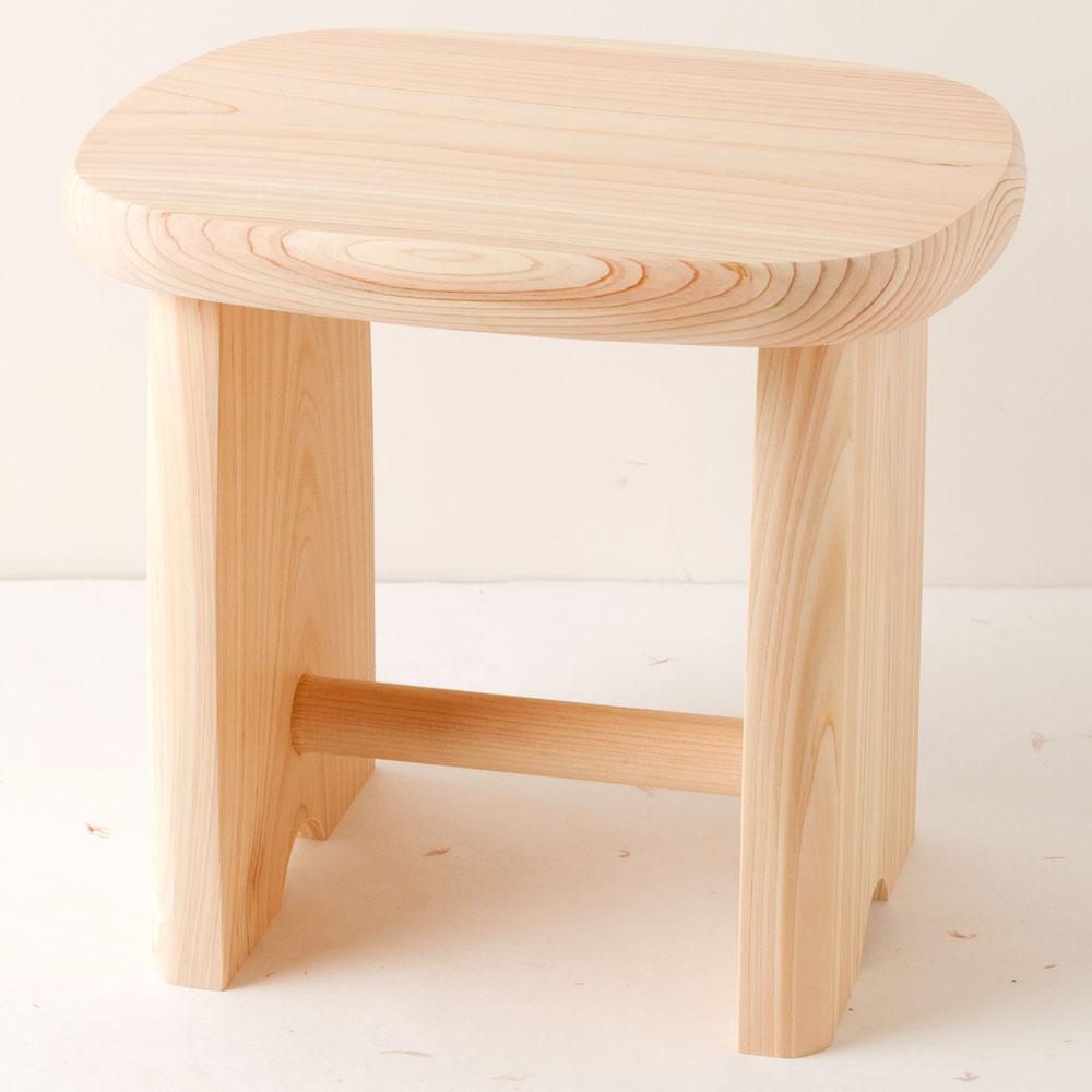 土佐龍 四万十ひのきの風呂椅子M 高知県の工芸品 Bath chair of cypress, Kochi craft