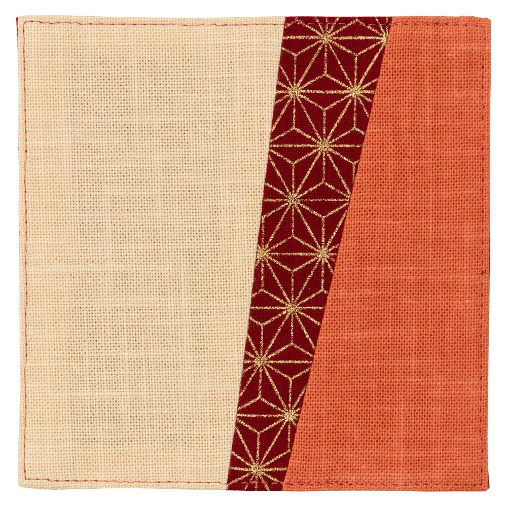百道発信 いろ葉 11cmコースター あんず (IKI-1487) 福岡県の布製品 Fabric coaster, Fukuoka craft