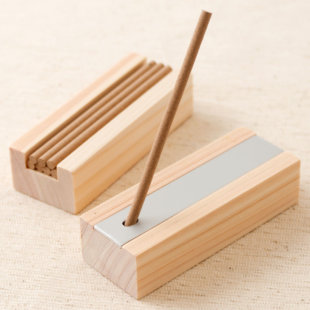 土佐龍 四万十ひのき森林香8本+香立てセット お香スティック・線香 高知県の工芸品 Cypress Incense, Kochi craft