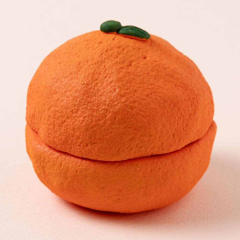 瀬戸焼 果物猫アロマストーン・みかん (K6519) 愛知県の工芸品 Seto-yaki Aroma stone, Aichi craft