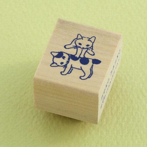 ポタリングキャット 猫はんこ 小サイズ うまとび(SH-11)