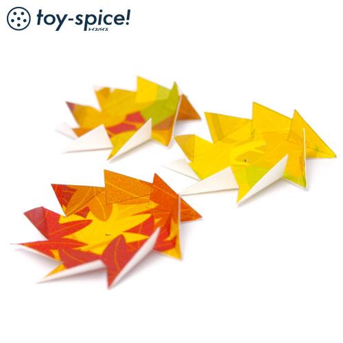 ポストカードTOY ふきごま・紅葉 (001-3) はがき1枚タイプ 紙のおもちゃ工作キット Postcard toy, Paper handmade kit