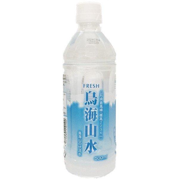 鳥海山水 ペットボトル 500ml x 24本