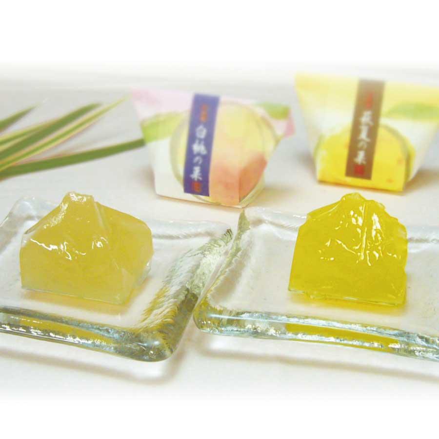 和菓彩羹(萩夏の菓・白桃の菓)7個入