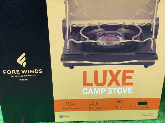 【送料無料】FORE WINDS フォアウィンズ ラックスキャンプストーブ FW-LS01ブラック キャンプはもちろん!おうちでも活躍するアウトドアこんろ