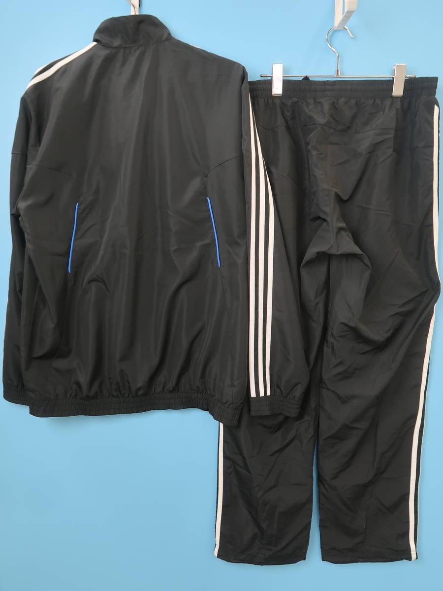 adidas(アディダス)サイドラインジャージセットアップ 長袖 黒/青 メンズ Aランク 0