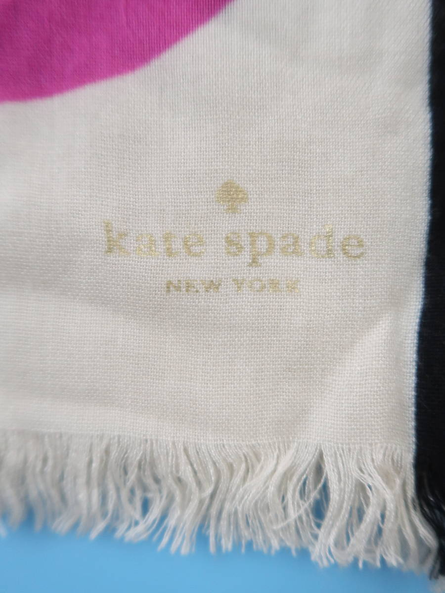 KATE SPADE(ケイトスペード)ドットスカーフ 黒/白 レディース Aランク [委託倉庫から出荷]