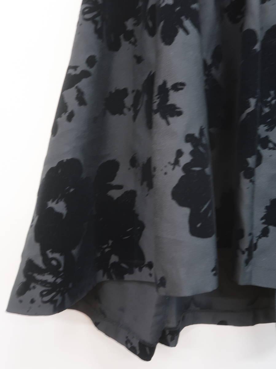 MERCURY DUO(マーキュリーデュオ)フロッキーフラワータックスカート 黒 レディース Aランク F [委託倉庫から出荷]