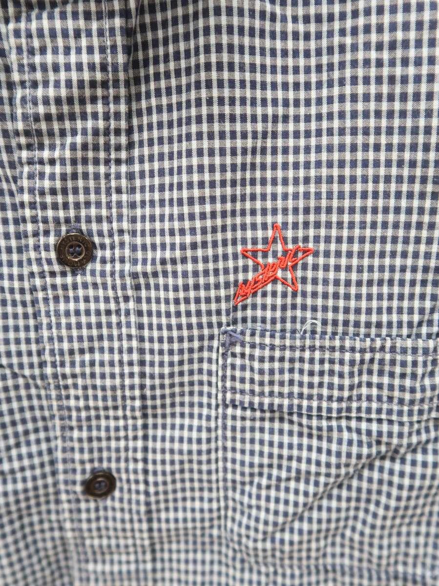 HYSTERIC GLAMOUR(ヒステリックグラマー)ロゴ刺繍チェックシャツ 長袖 紺 レディース Aランク F [委託倉庫から出荷]