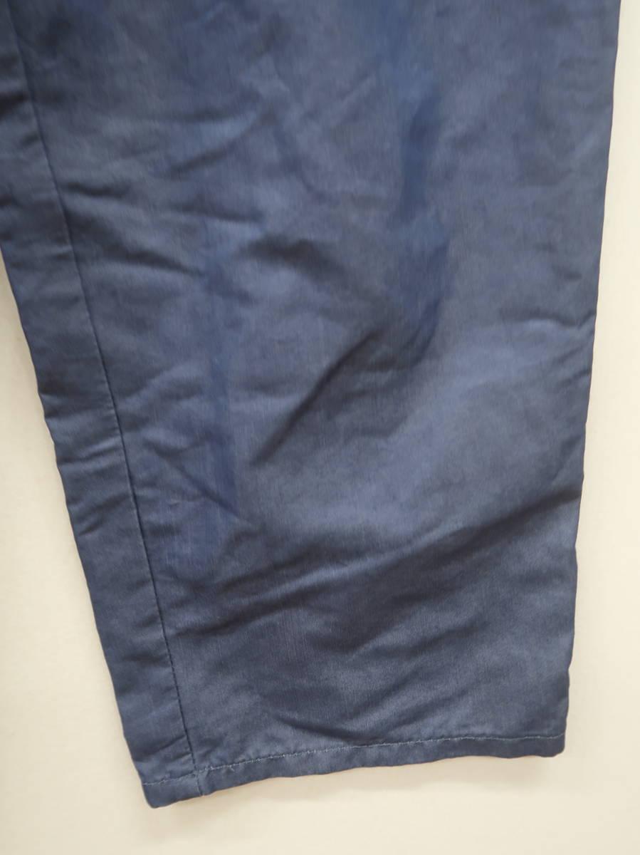 Discoat(ディスコート)ウエストリボンハイウエストレーヨンアンクルパンツ 青 レディース Aランク L [委託倉庫から出荷]
