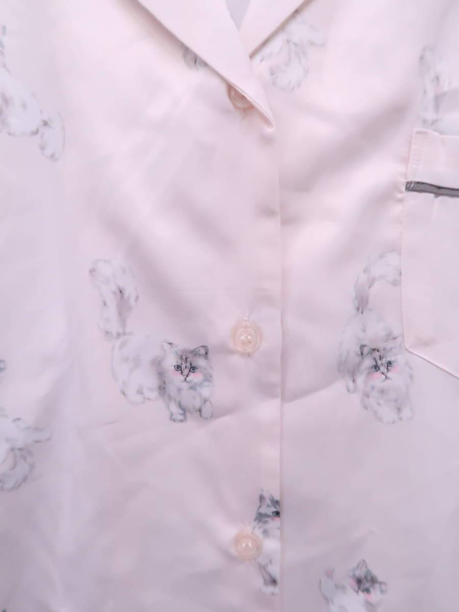 gelato pique(ジェラートピケ)猫柄シャツドレス ピンク レディース 新品 F