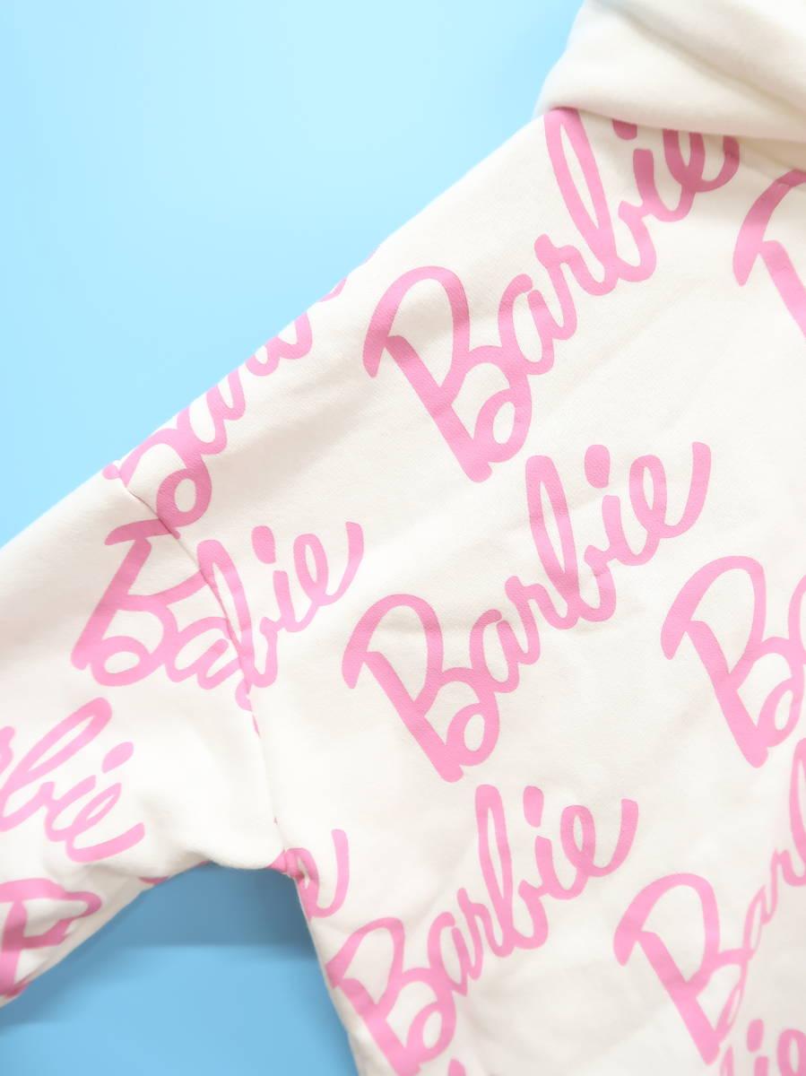 EmiriaWiz(エミリアウィズ)Barbieロゴプルオーバー 長袖 白/ピンク レディース Aランク F [委託倉庫から出荷]