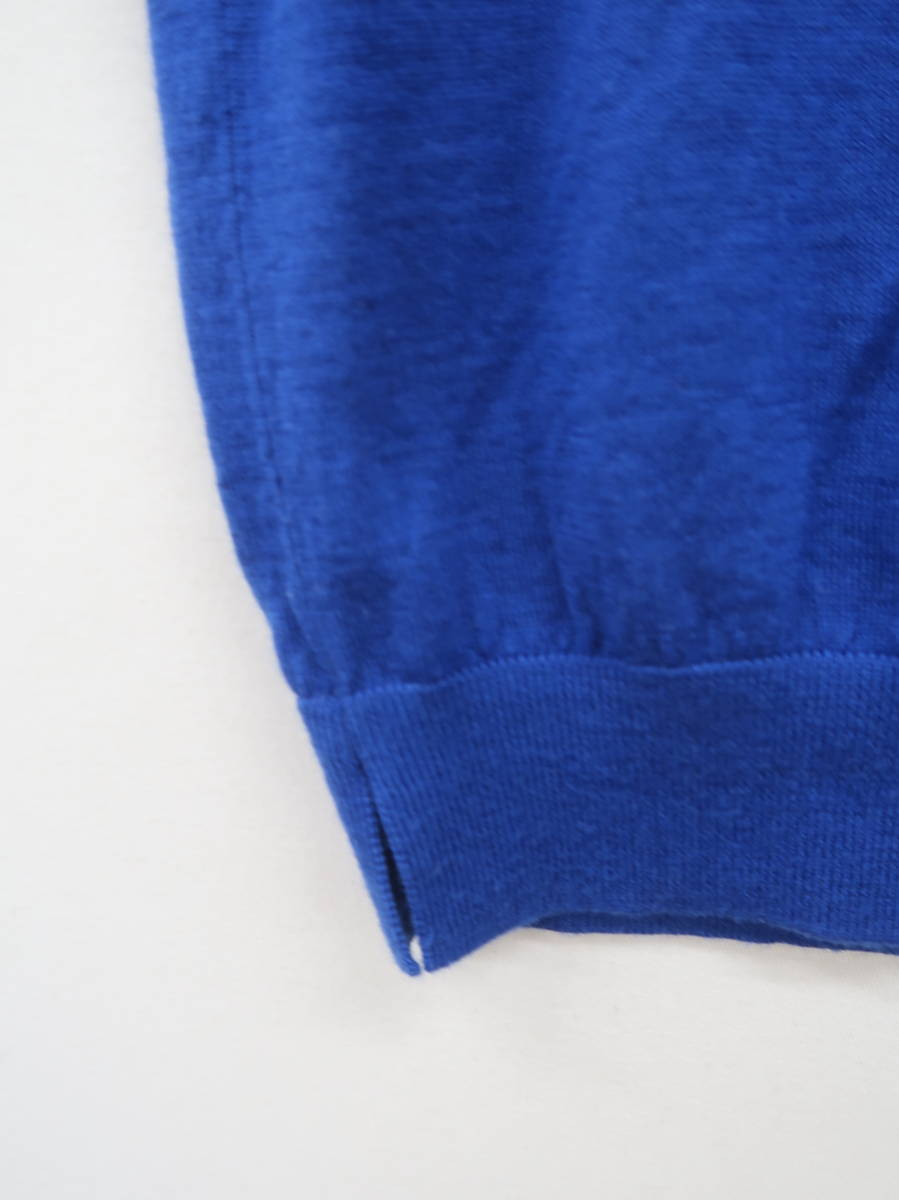ROPE' PICNIC(ロペピクニック)ビジューボタンスリーブニットトップス 半袖 青 レディース Aランク M [委託倉庫から出荷]