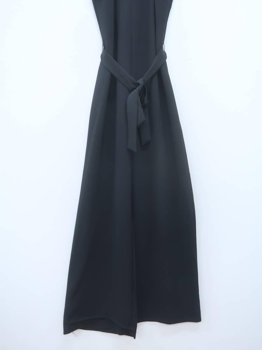 ZARA(ザラ)ウエストリボンノースリーブロンパース ノースリーブ 黒 レディース A-ランク XS [委託倉庫から出荷]