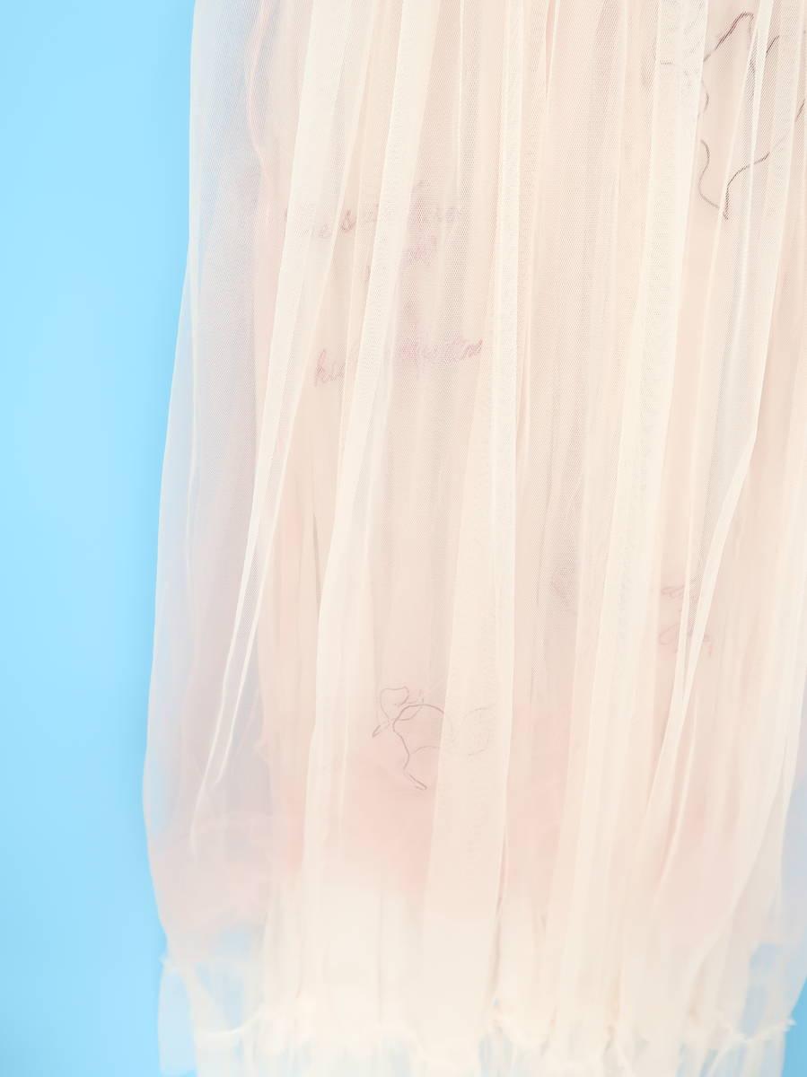 gelato pique(ジェラートピケ)[2019]エンブロイダリーチュールドレス ピンク レディース Aランク F [委託倉庫から出荷]