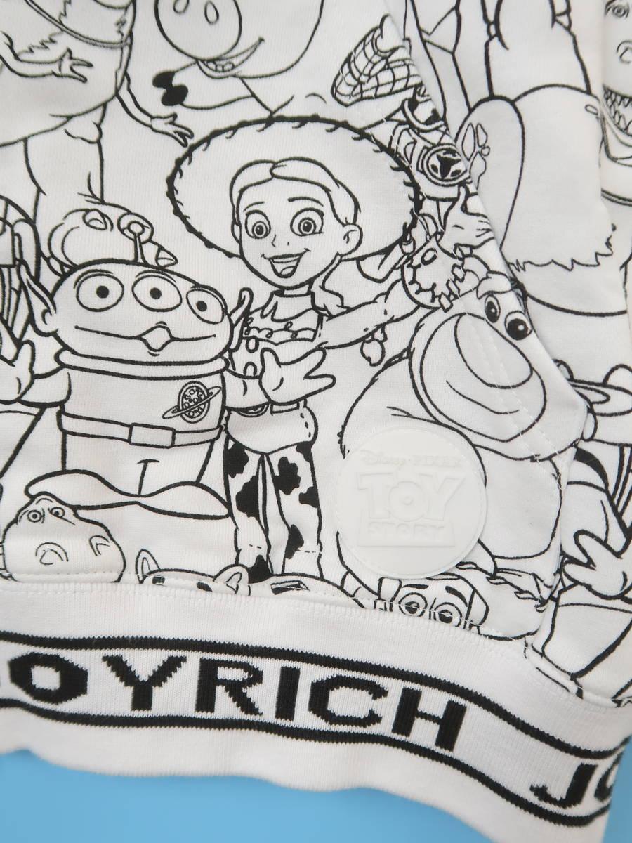 JOYRICH(ジョイリッチ)TOYSTORYコラボプリントパーカー 長袖 白/黒 レディース 新品 M [委託倉庫から出荷]