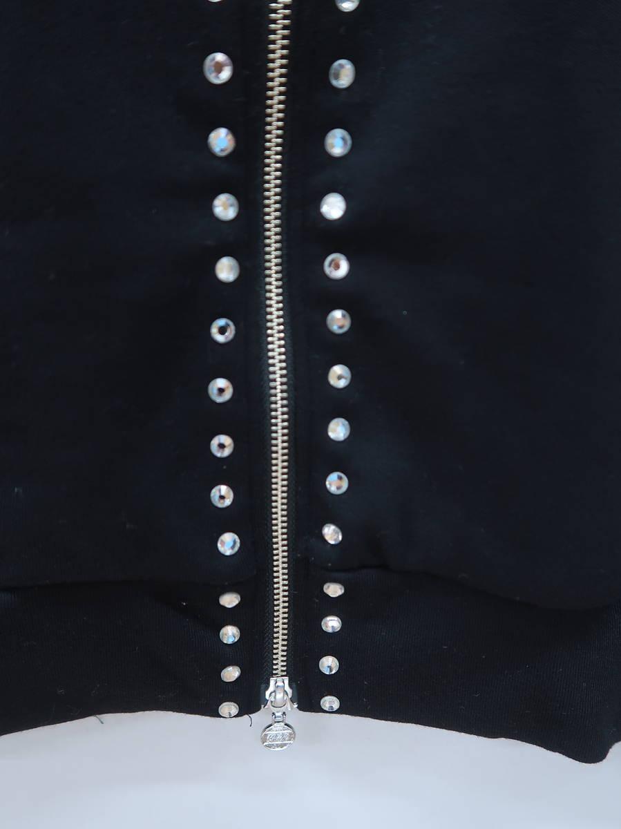 Rady(レディー)ジップアップビジューフーディ 長袖 黒/クリア レディース Aランク M [委託倉庫から出荷]