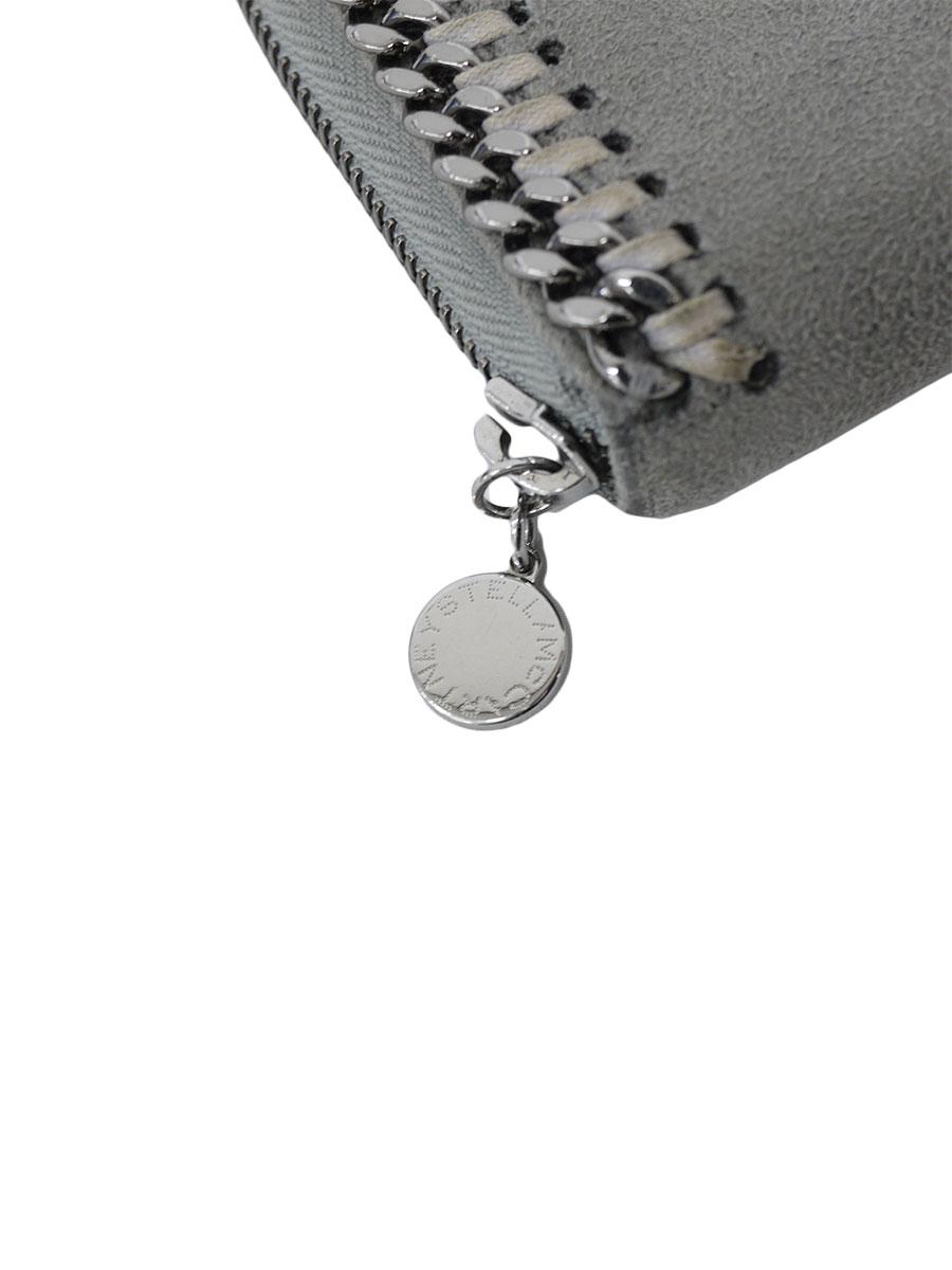 【送料無料】Stella McCartney(ステラマッカートニー)チェーン ファラベラ 長財布 ラウンドファスナー ロングウォレット グレー/シルバー レディース A-ランク [当店倉庫から出荷]