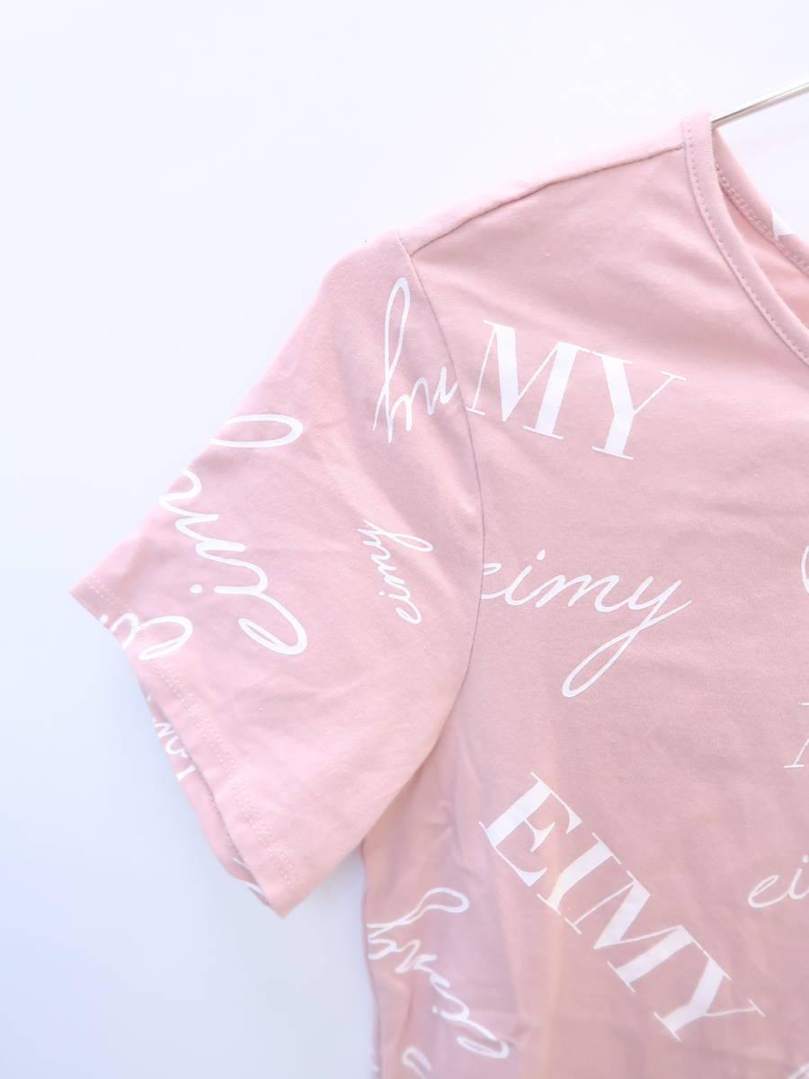 eimy istoire(エイミーイストワール)[2019]randomly eimyプリントTシャツ 半袖 ピンク/白 レディース 新品 F