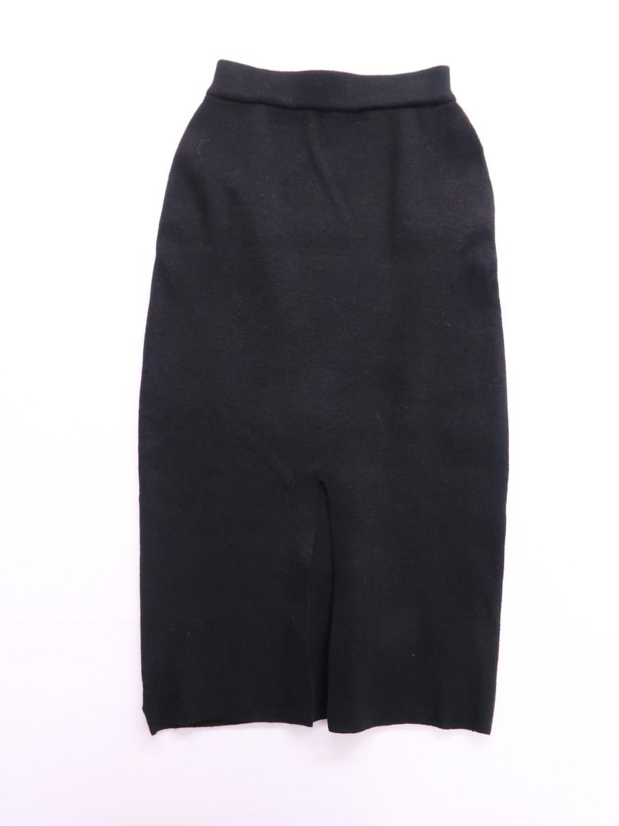 MURUA(ムルーア)センタースリットニットスカート 黒 レディース 新品 F [委託倉庫から出荷]