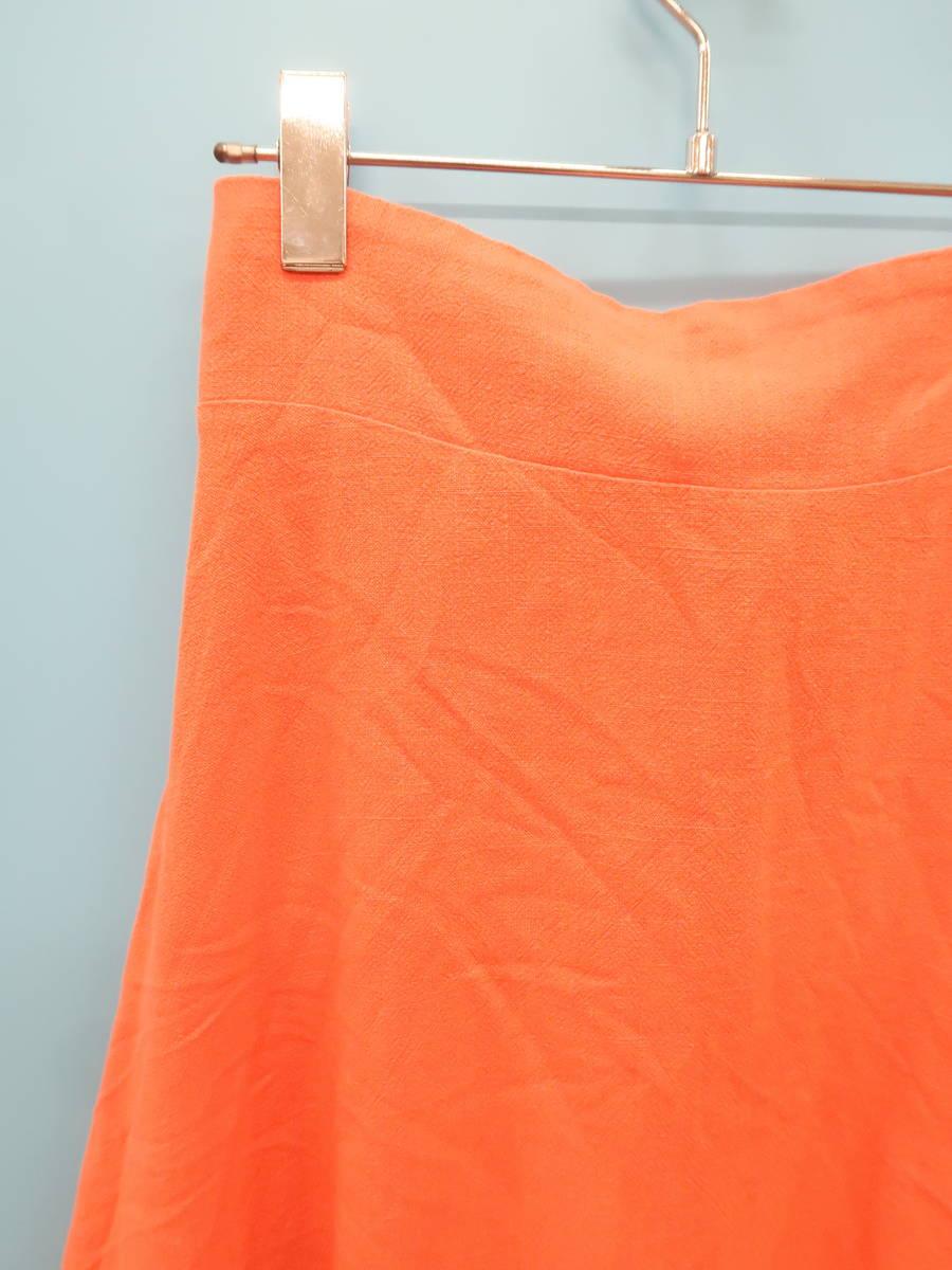 SeaRoomlynn(シールームリン)バックリボンリネンスカート オレンジ レディース Aランク M