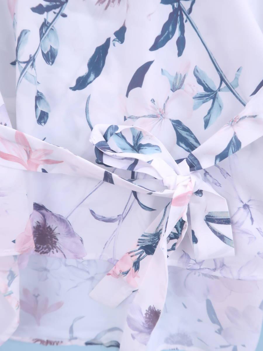 eimy istoire(エイミーイストワール)ウォーターフラワートップス 長袖 白/ピンク レディース 新品 F [委託倉庫から出荷]