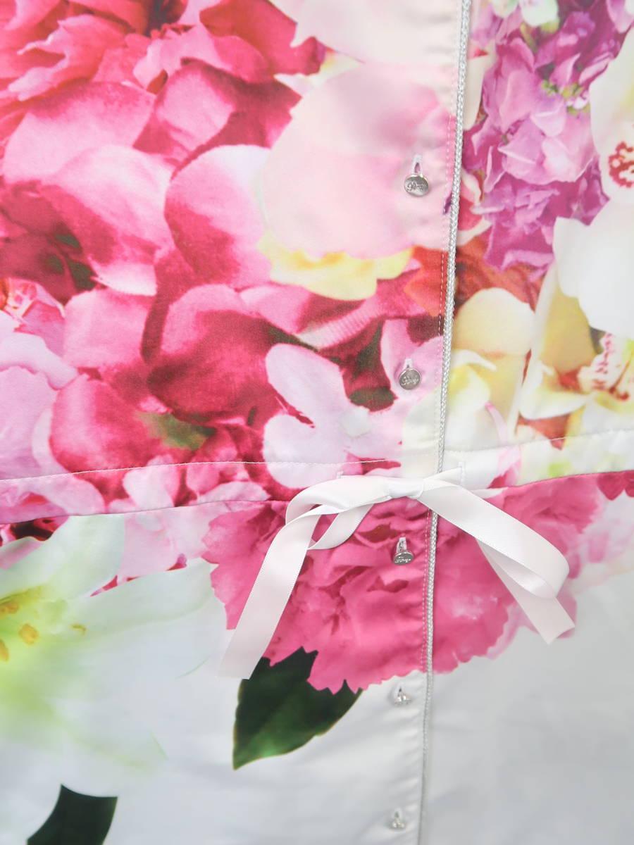 Rady(レディー)フラワーブーケ彼シャツパジャマ 長袖 白/ピンク レディース Sランク F