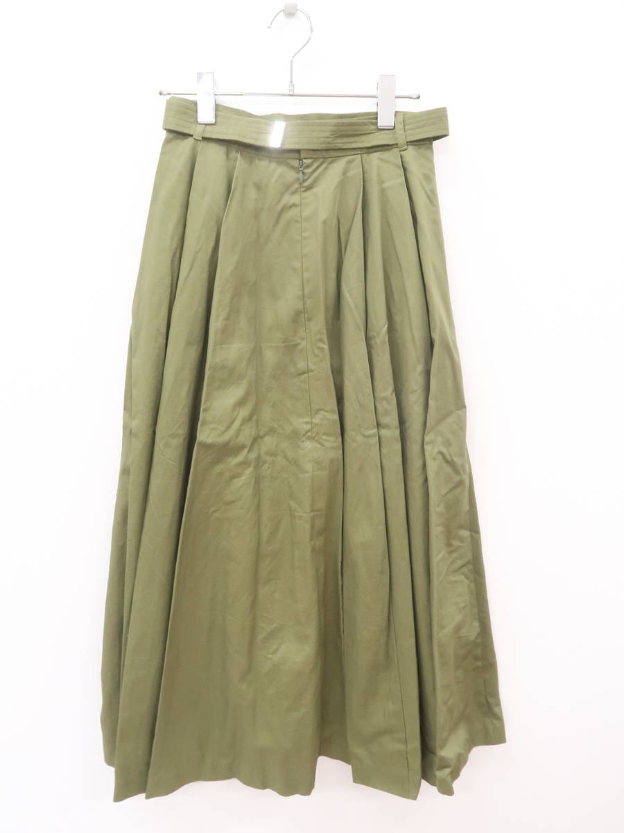 MURUA(ムルーア)ガチャベルフレアスカート 緑 レディース Aランク 2(M) [委託倉庫から出荷]