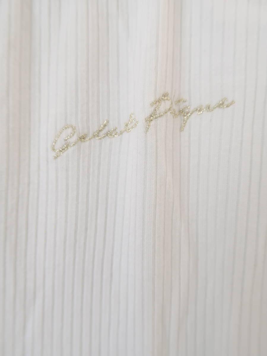 gelato pique(ジェラートピケ)リブカットソーセットアップ 長袖 白 レディース Aランク F
