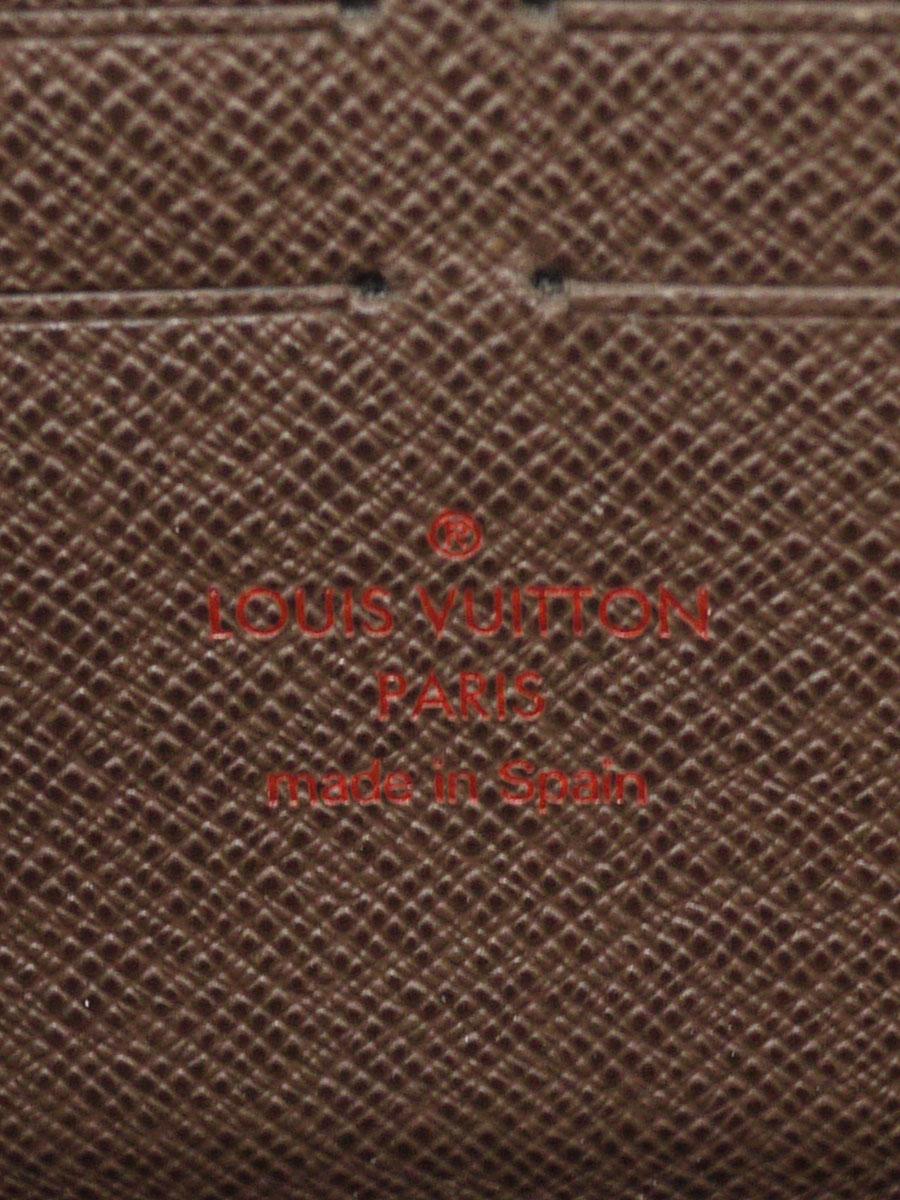 【送料無料】LOUIS VUITTON(ルイヴィトン)ダミエ ジッピーウォレット N60015 / ラウンドファスナー長財布 茶 レディース Aランク [当店倉庫から出荷]