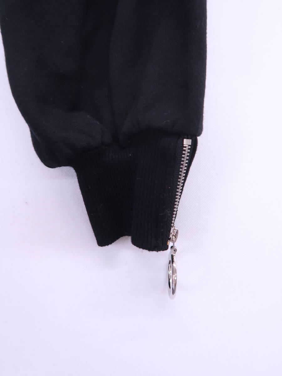 EATME(イートミー)リングジップグラフィックトップ 長袖 黒 レディース Aランク F