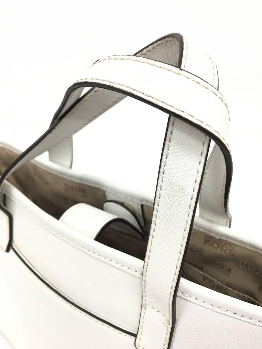 Michael Kors(マイケルコース)JETSET TRAVEL ハンドバッグ 白 レディース Bランク [委託倉庫から出荷]