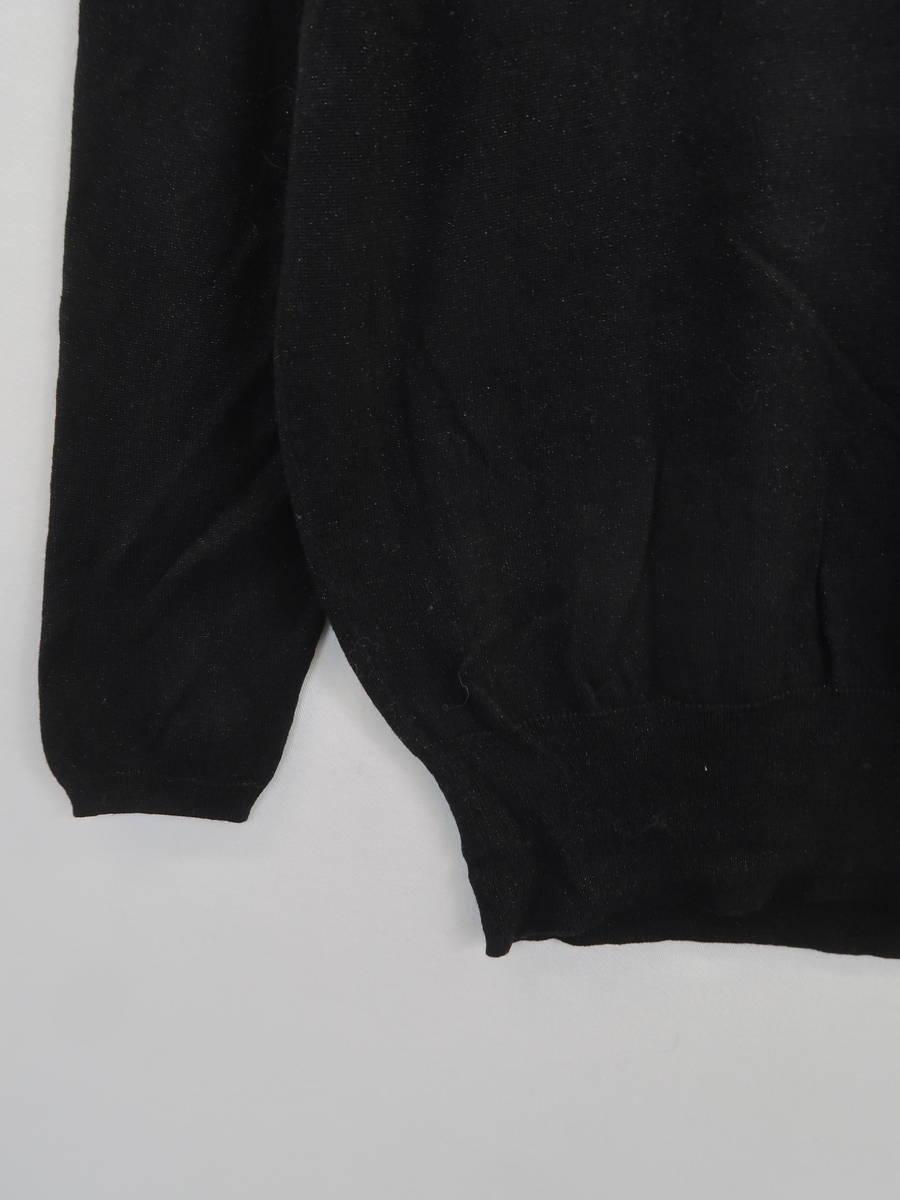 UNITED ARROWS(ユナイテッドアローズ)Vネックニットカットソー 長袖 黒 レディース Aランク
