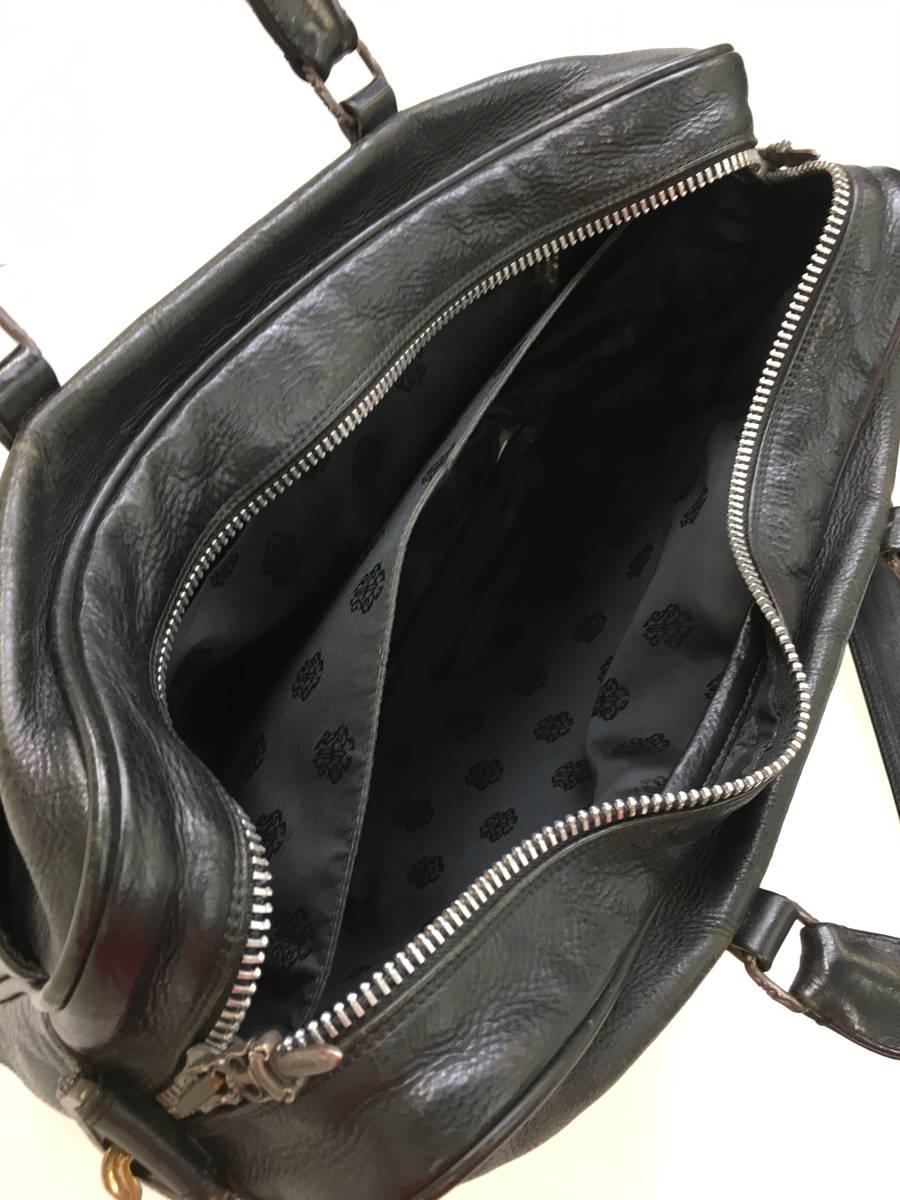 【送料無料】CHROME HEARTS(クロムハーツ)2WAY ビジネスバッグ 黒 メンズ A-ランク  [委託倉庫から出荷]