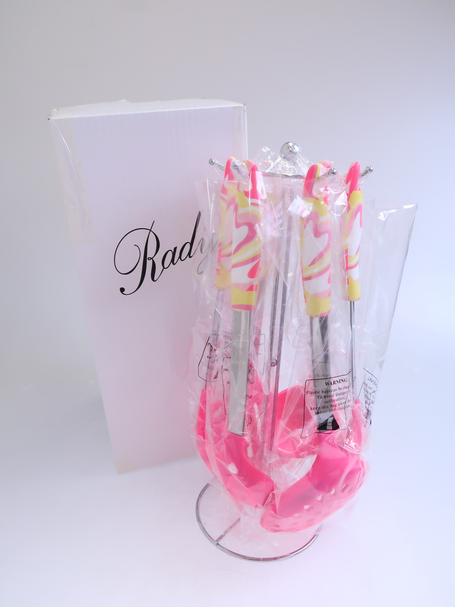 Rady(レディー)ハートマーブルキッチンセット 白 ピンク レディース Sランク [委託倉庫から出荷]