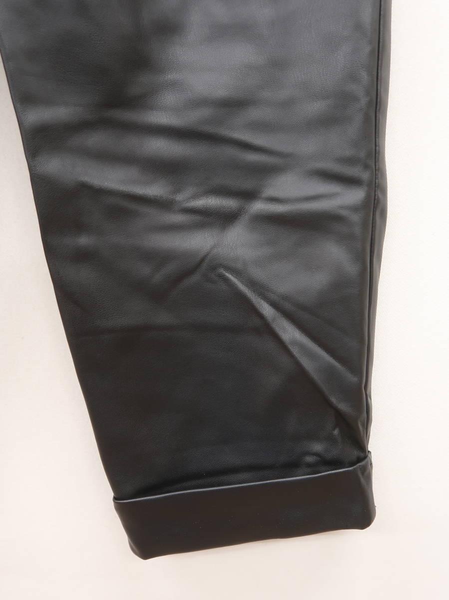 ZARA(ザラ)フェイクレザーテーパードパンツ 黒 レディース Aランク S [委託倉庫から出荷]