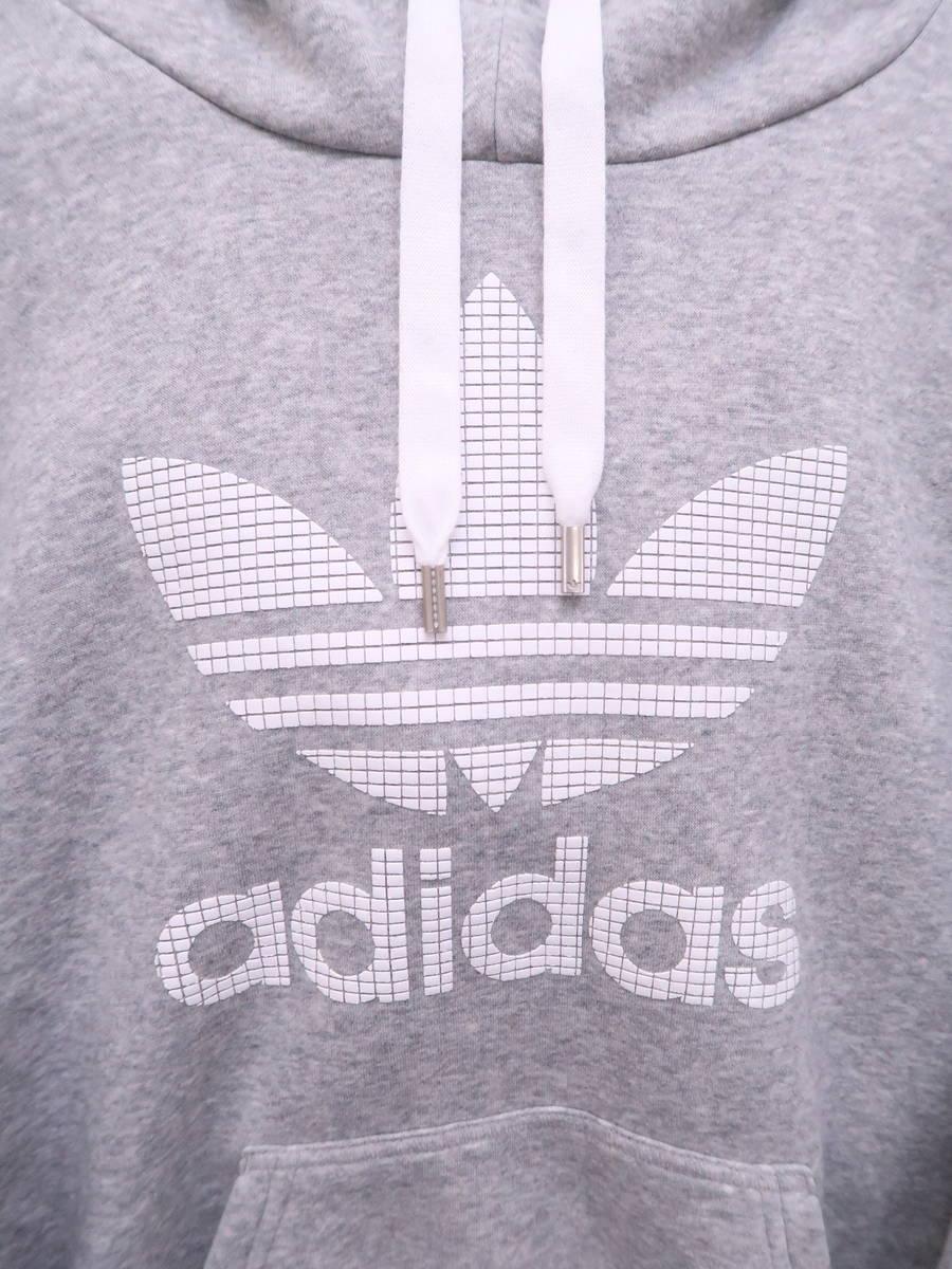 adidas Originals(アディダスオリジナルス)TREFOIL HOODIE 長袖 グレー レディース Aランク L [委託倉庫から出荷]