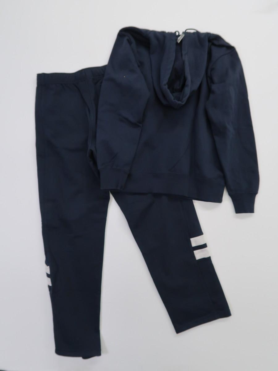 NIKE(ナイキ)裏起毛スウェットセットアップ 長袖 紺 メンズ A-ランク L