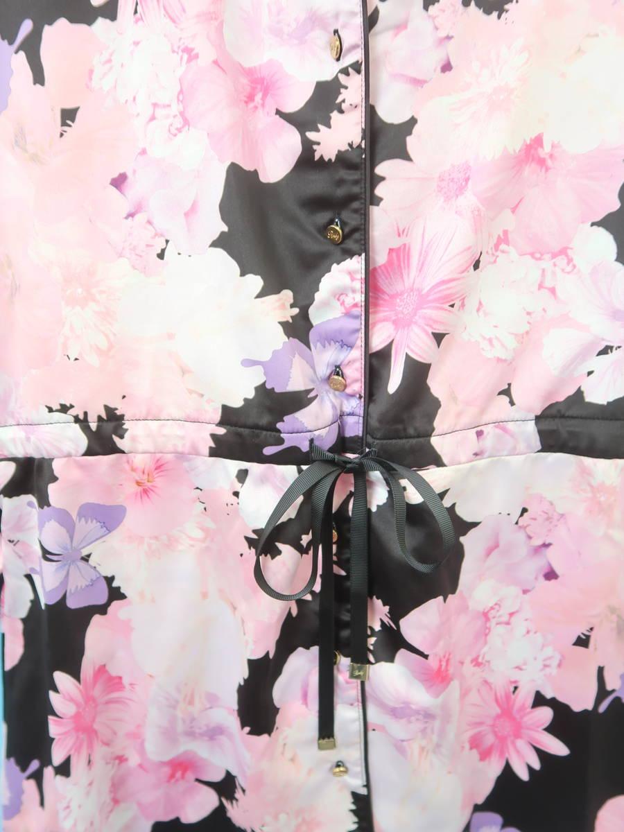 Rady(レディー)トロピカルピンク彼シャツパジャマ 長袖 黒/ピンク レディース Aランク F [委託倉庫から出荷]