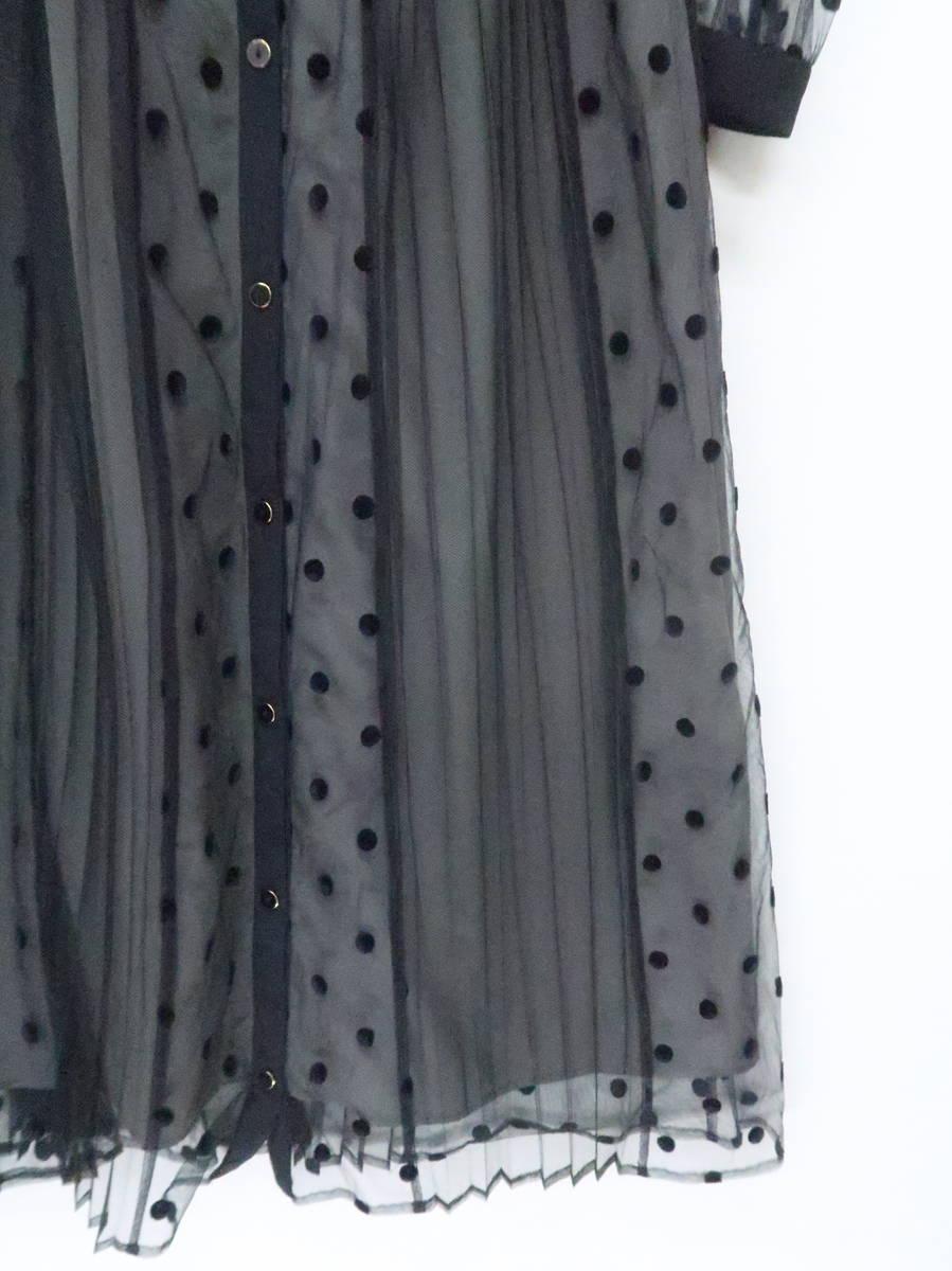 【送料無料】Diagram GRACECONTINENTAL(ダイアグラムグレースコンチネンタル)[2019]プリーツドッキングワンピース 長袖 黒/グレー レディース Aランク 36 [委託倉庫から出荷]