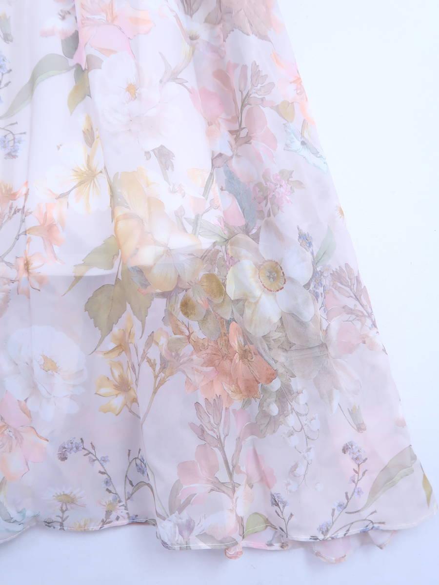 【送料無料】eimy istoire(エイミーイストワール)muse flowerワンピース ノースリーブ 白/黄 レディース Aランク F [委託倉庫から出荷]