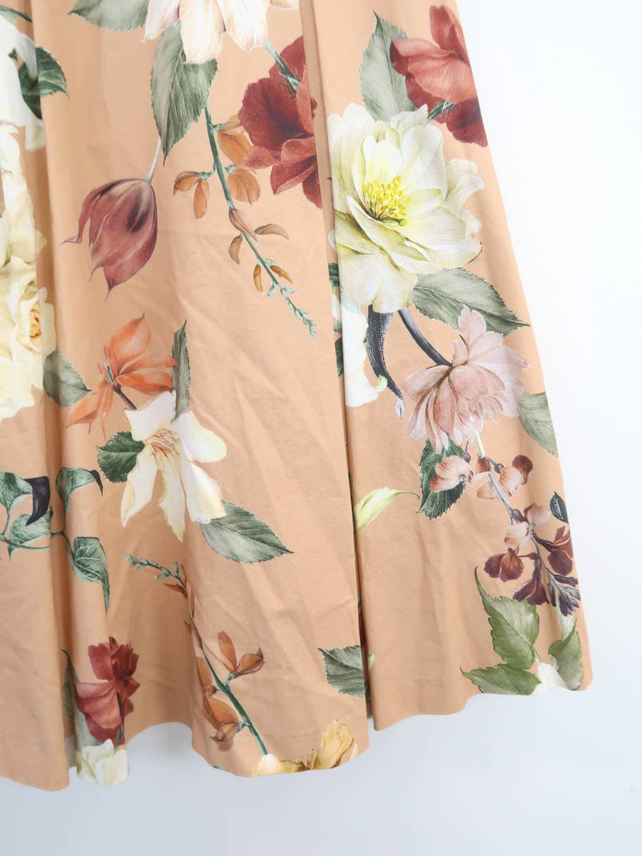 eimy istoire(エイミーイストワール)[2019]Sopnia flowerベルトフレアスカート ベージュ レディース Sランク M