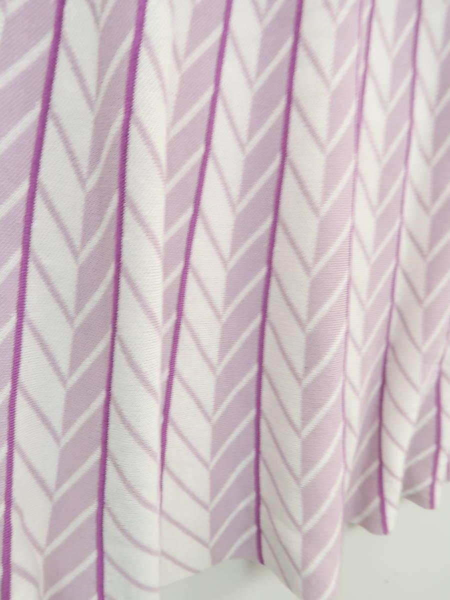 【送料無料】eimy istoire(エイミーイストワール)ジオメタリックジャガードニットワンピース ノースリーブ 紫/白 レディース Aランク F [委託倉庫から出荷]