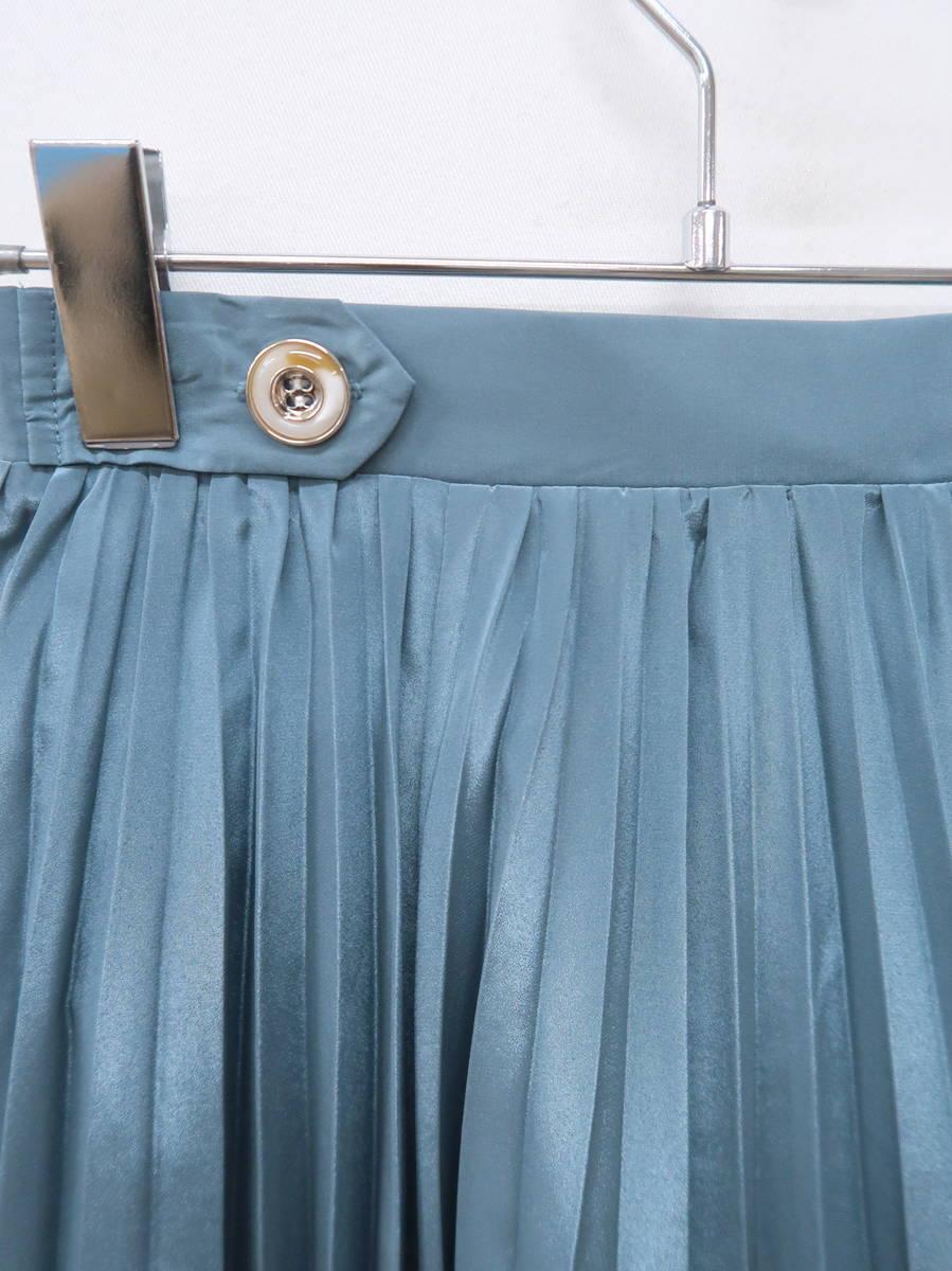 Noela(ノエラ)イレヘムプリーツスカート 緑 レディース Aランク F [委託倉庫から出荷]