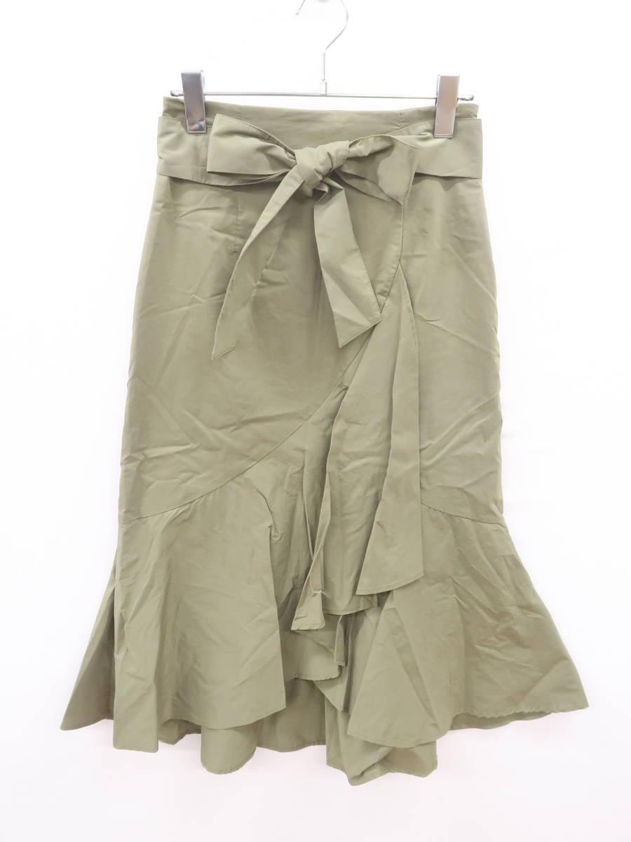BLANCHIC(ブランシック)裾フレアミディスカート 緑 レディース Aランク 3 [委託倉庫から出荷]