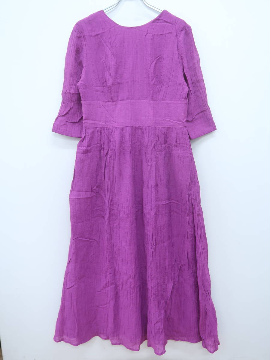 SLY(スライ)BACK OPEN WOVEN DRESS 五分袖 紫 レディース Aランク 2 [委託倉庫から出荷]