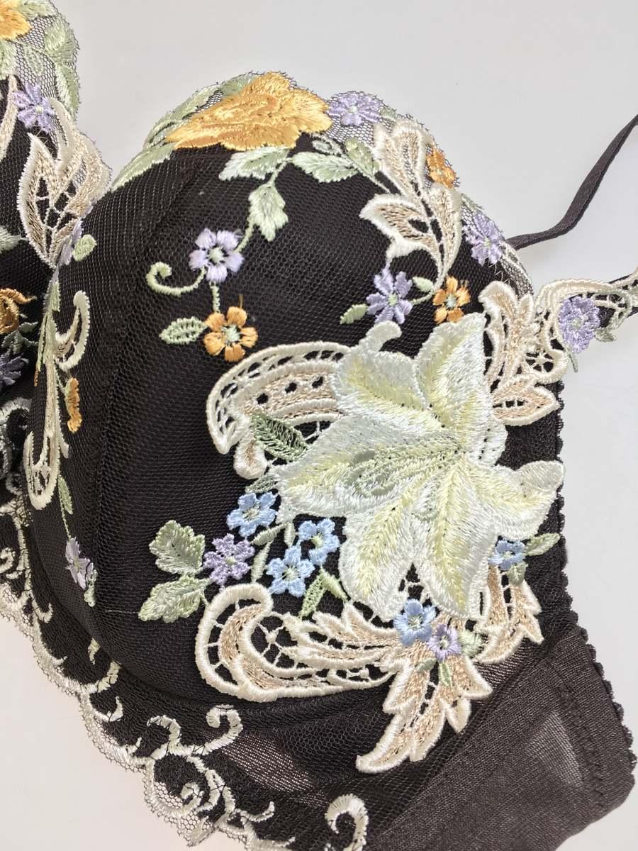 Wacoal(ワコール)Trefleレース刺繍ブラセット 茶 レディース 新品 F70 [委託倉庫から出荷]