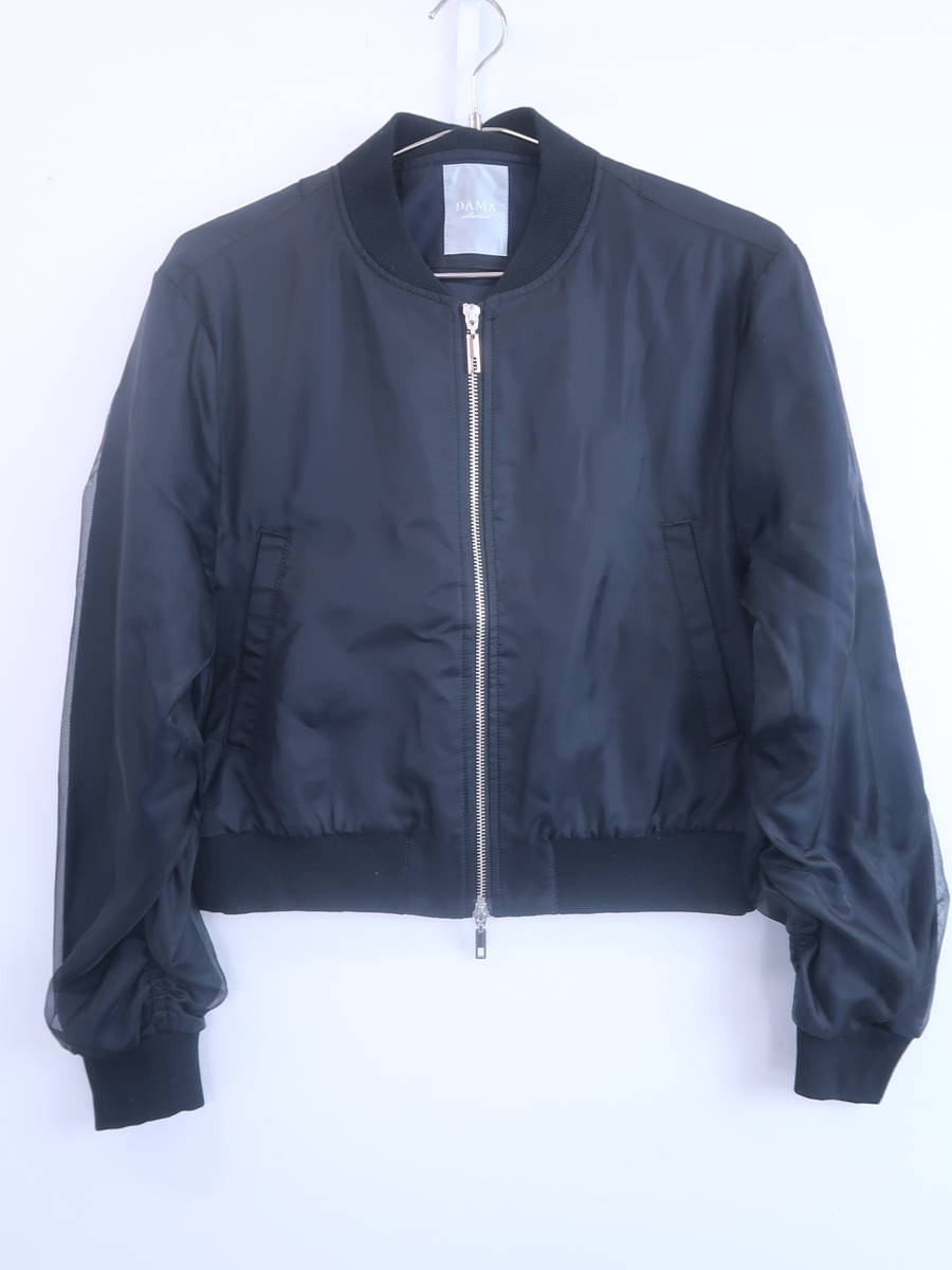 DAMA collection(ダーマコレクション)ギャザースリーブMA-1 長袖 黒 レディース Aランク 11R [委託倉庫から出荷]