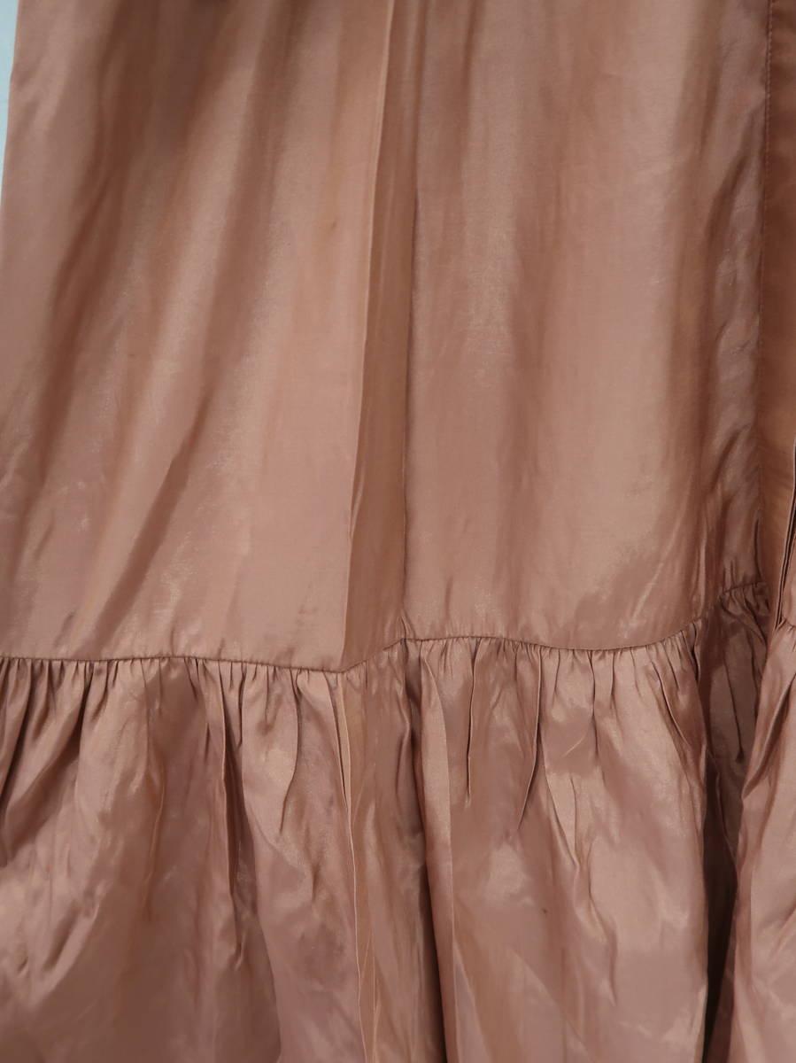 Chesty(チェスティ)フラワーレースシャツワンピース 長袖 茶 レディース 新品 0 [委託倉庫から出荷]
